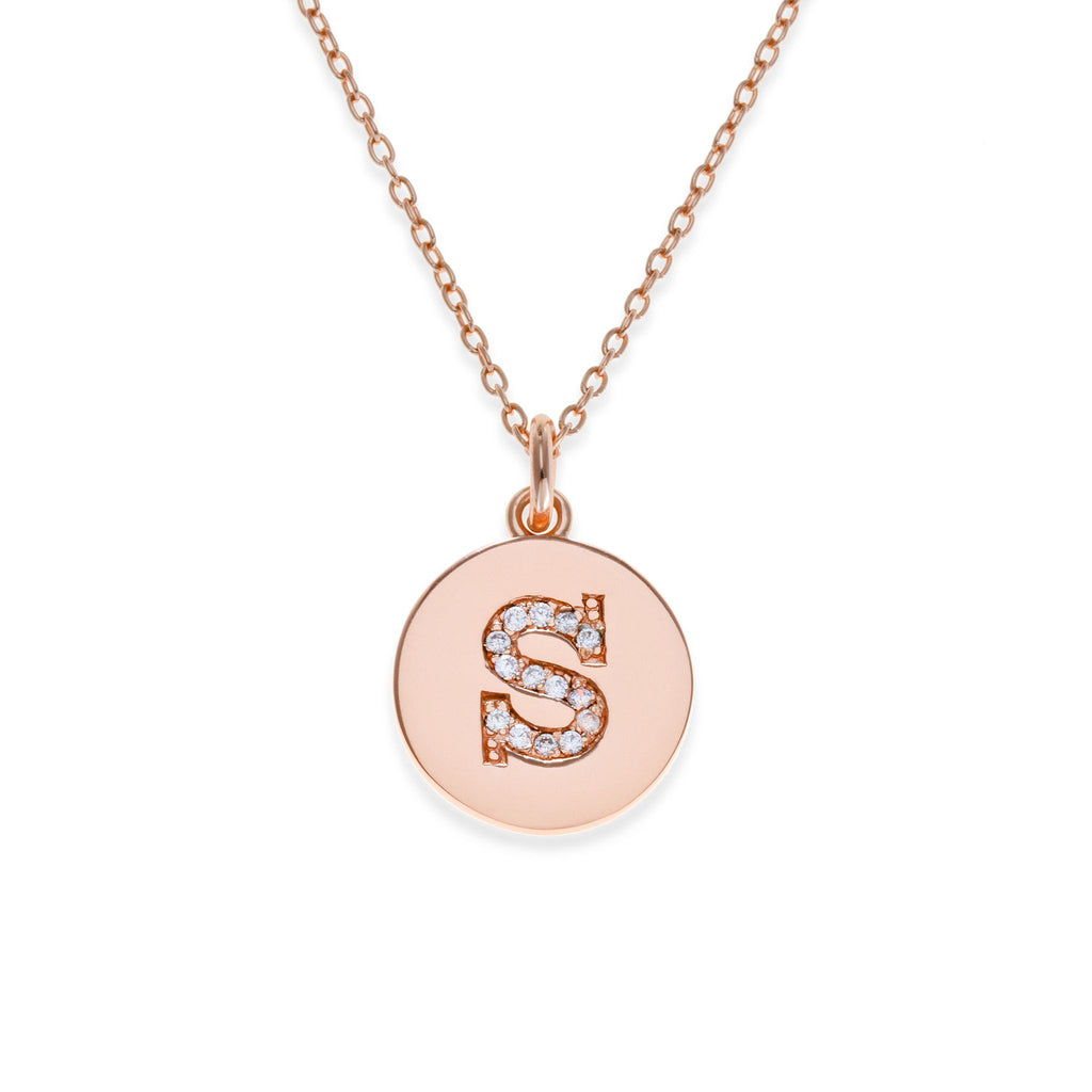 18K Rose Gold Plated Initial Necklace - S | Kith & Kin | It's Personal Collection