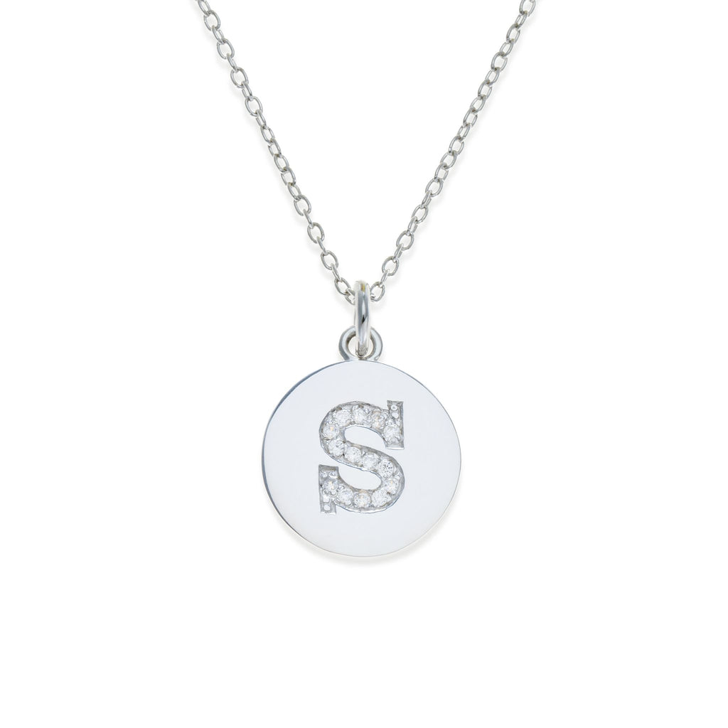 Sterling Silver Initial Necklace - S | Kith & Kin | It's Personal Collection