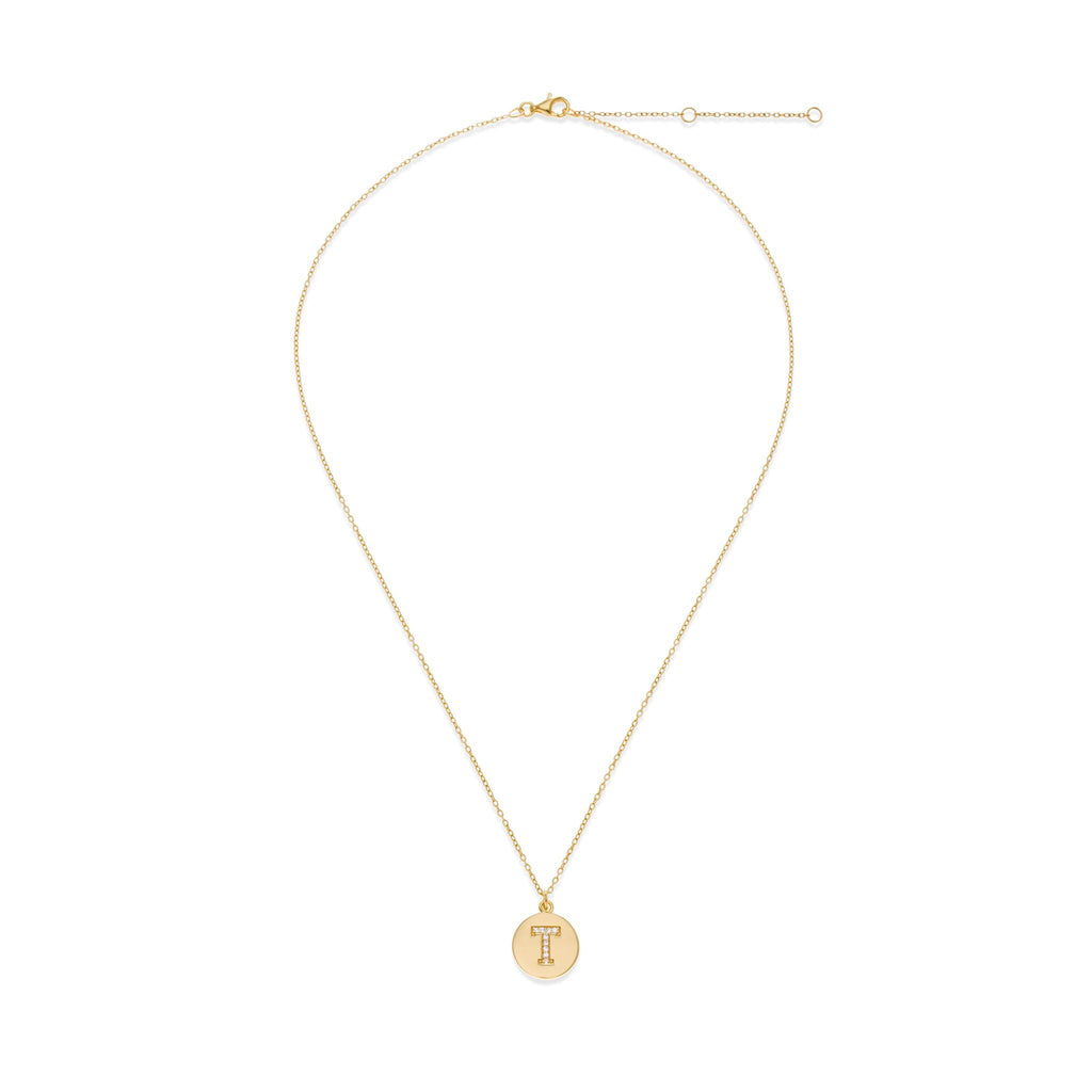 18K Gold Plated Initial Necklace - T | Kith & Kin | It's Personal Collection