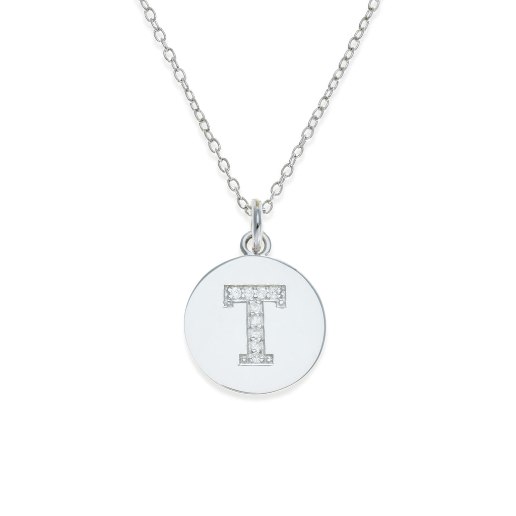 Sterling Silver Initial Necklace - T | Kith & Kin | It's Personal Collection