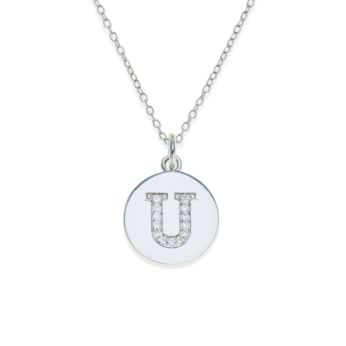 Sterling Silver Initial Necklace - U | Kith & Kin | It's Personal Collection