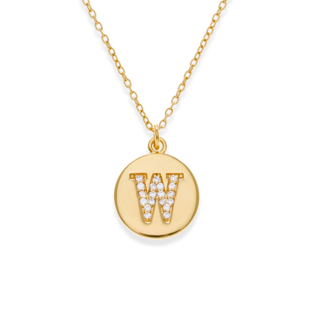 18K Gold Plated Initial Necklace - W | Kith & Kin | It's Personal Collection