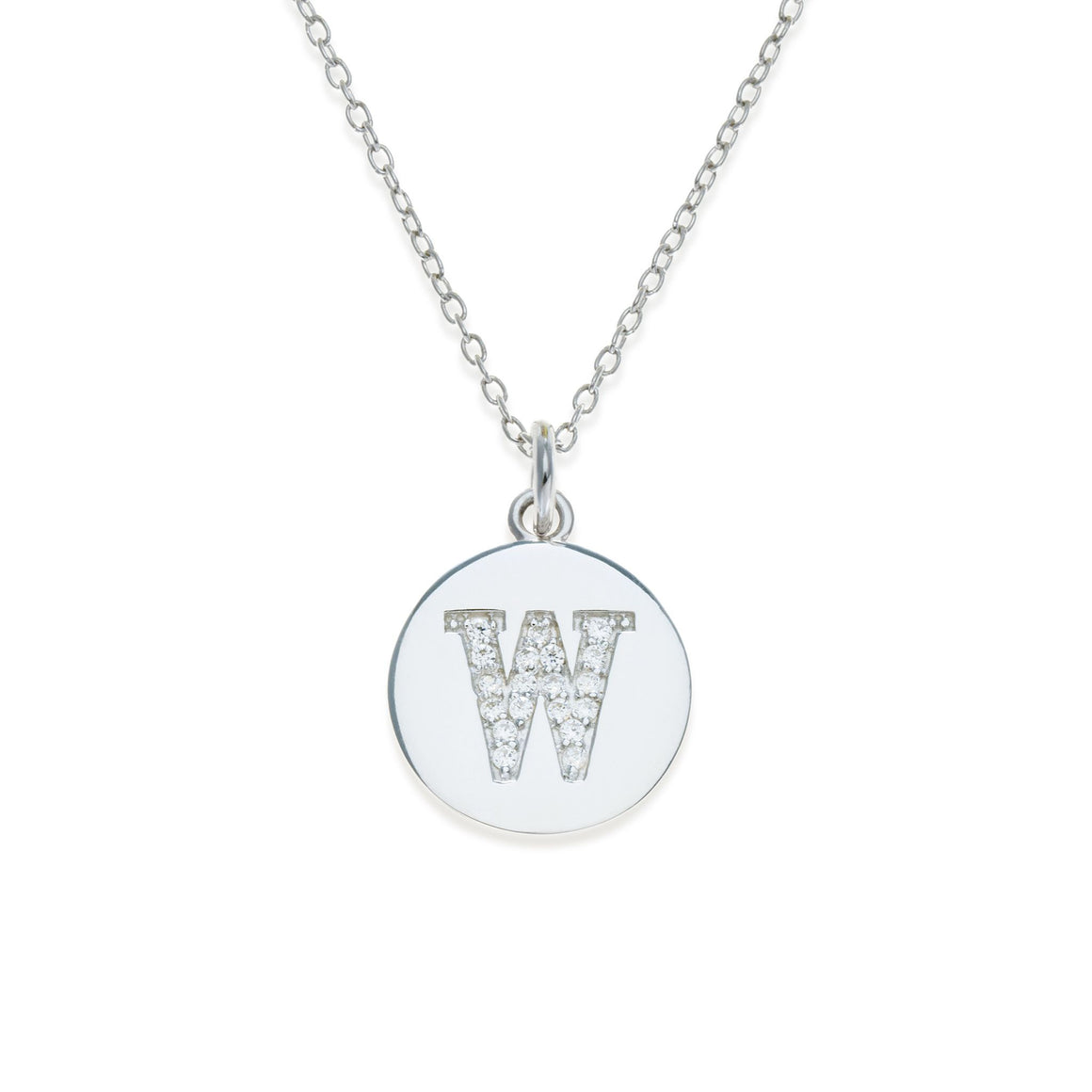 Sterling Silver Initial Necklace - W | Kith & Kin | It's Personal Collection