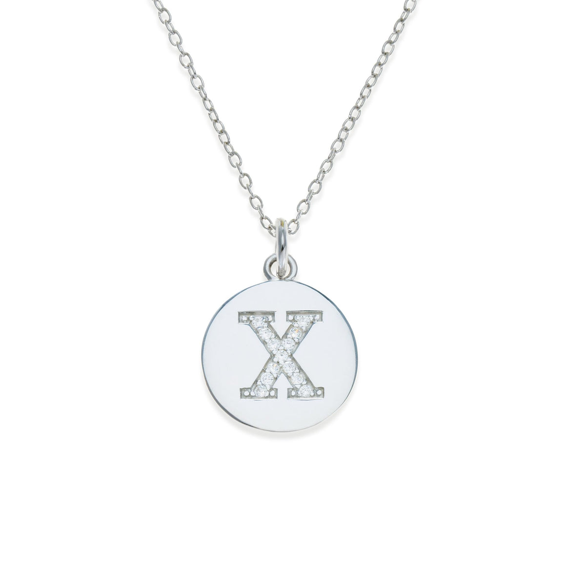 Sterling Silver Initial Necklace - X | Kith & Kin | It's Personal Collection
