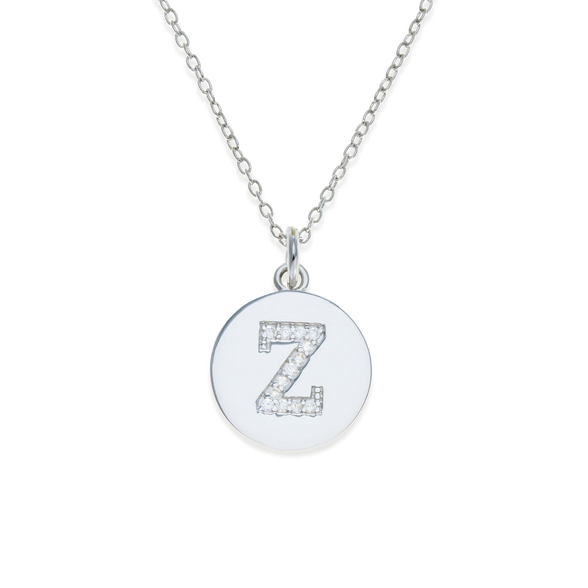 Sterling Silver Initial Necklace - Z | Kith & Kin | It's Personal Collection