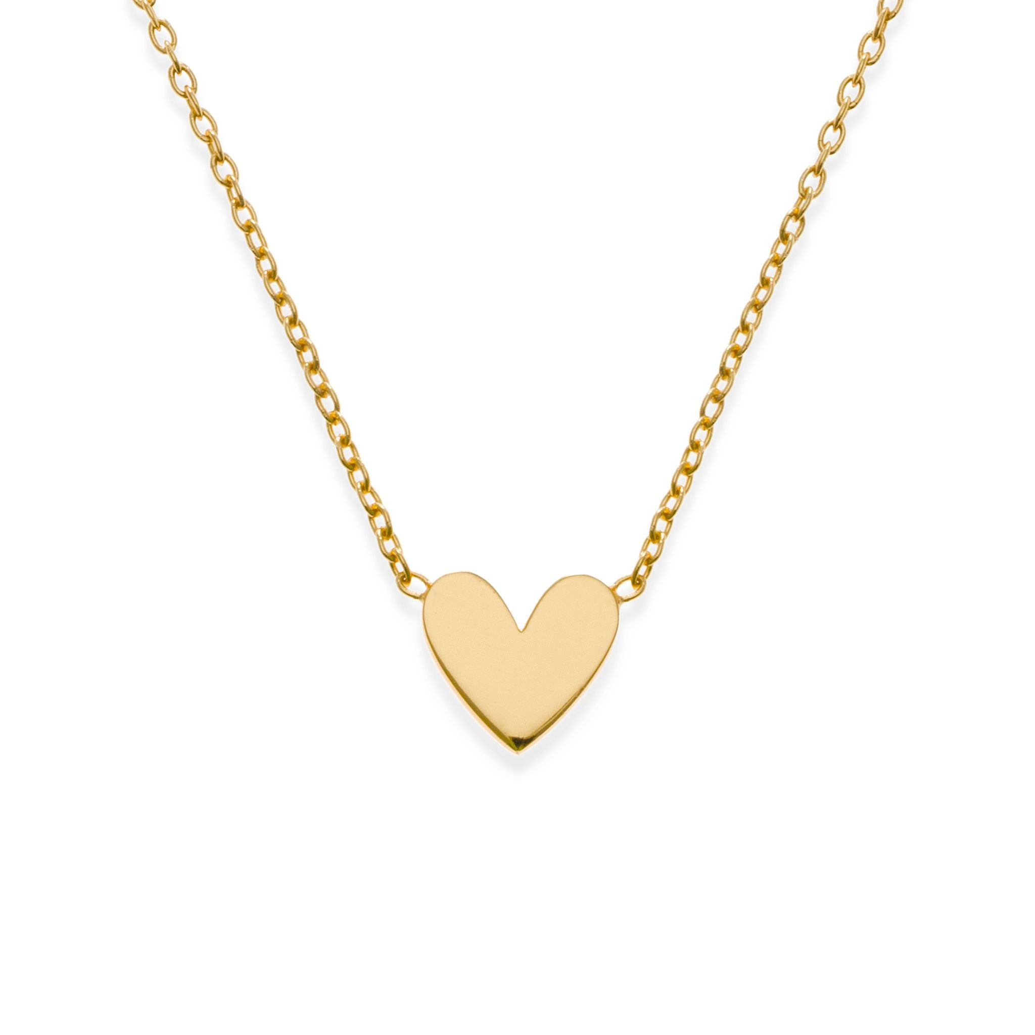 in normal necklace gold heart product ginette metallic mini ny lyst jewelry gallery