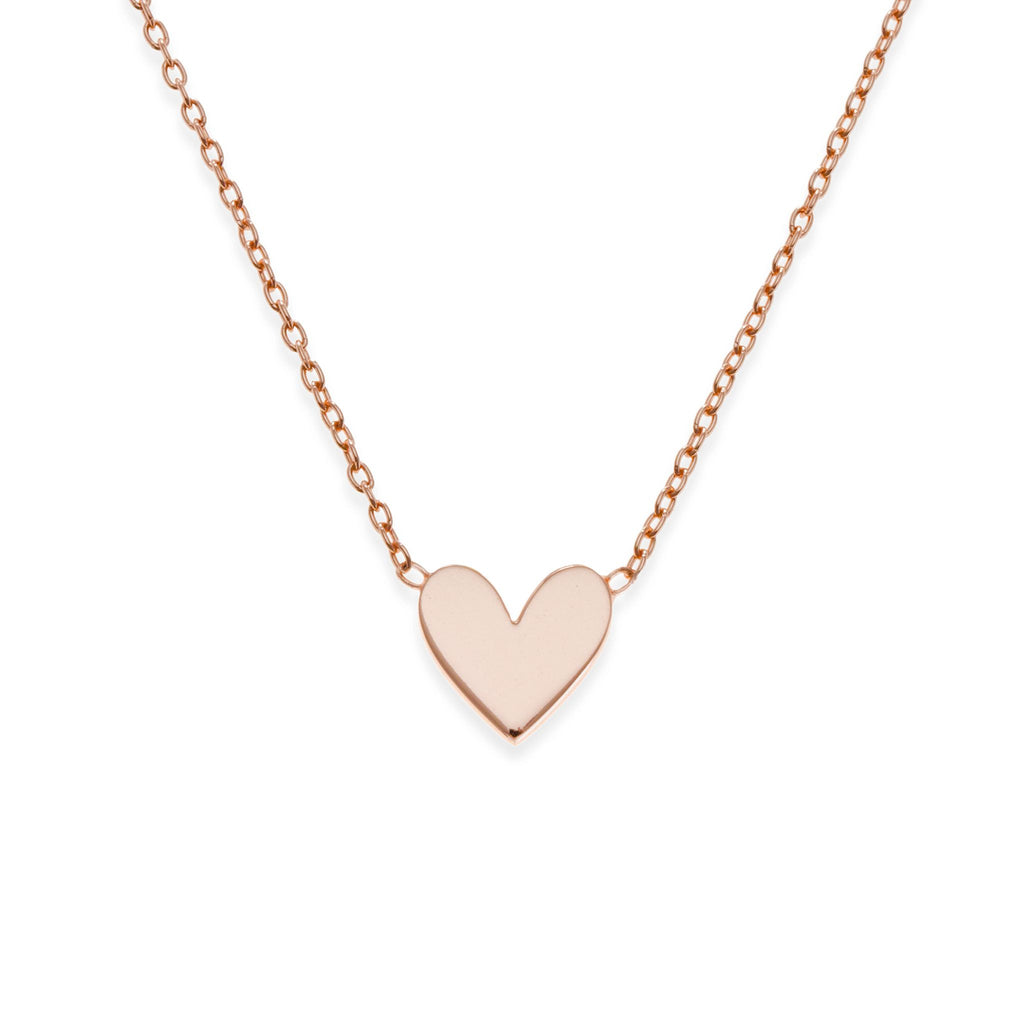 18K Rose Gold Plated Heart Necklace | Mother-Daughter Jewelry | Kith & Kin | Mini Me Collection