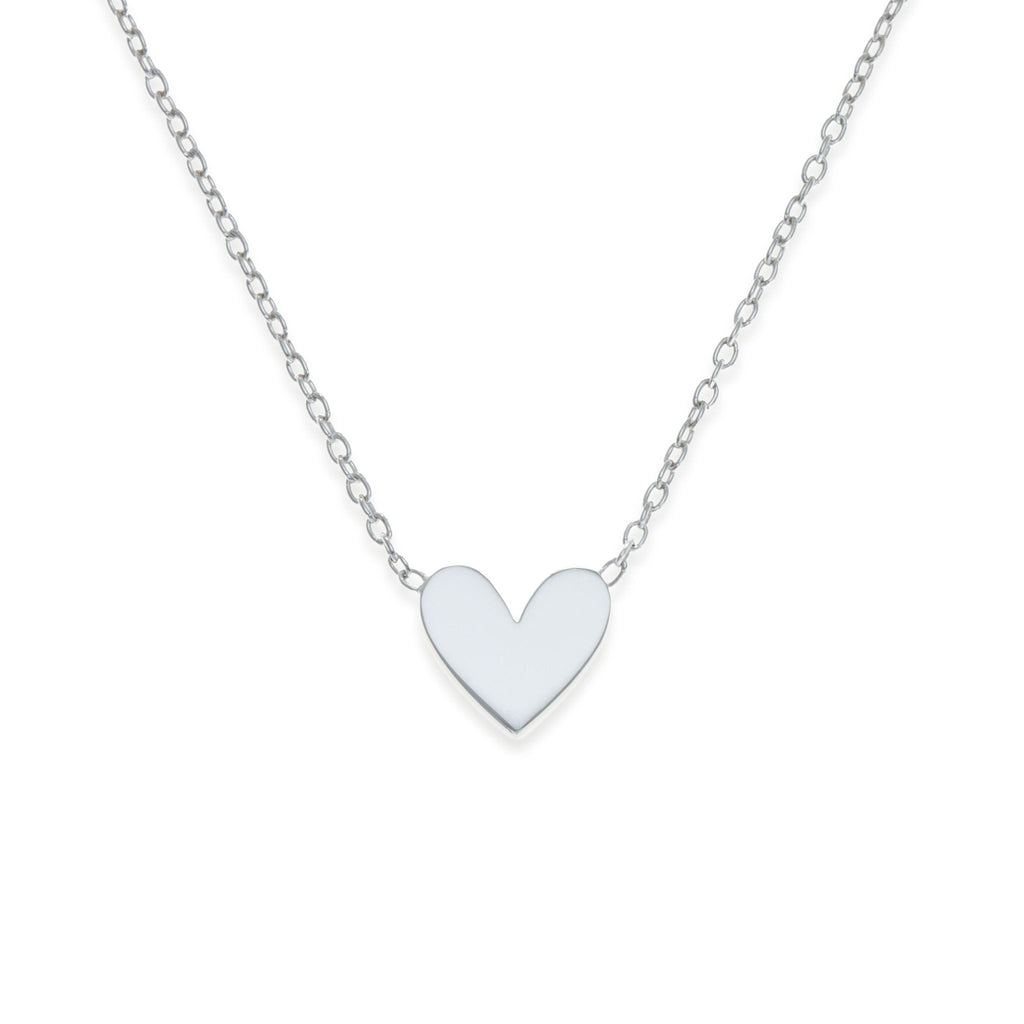 Sterling Silver Heart Necklace | Mother-Daughter Jewelry | Kith & Kin | Mini Me Collection