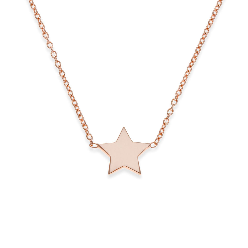 18K Rose Gold Star Necklace | Mother-Daughter Jewelry | Kith & Kin | Mini Me Collection