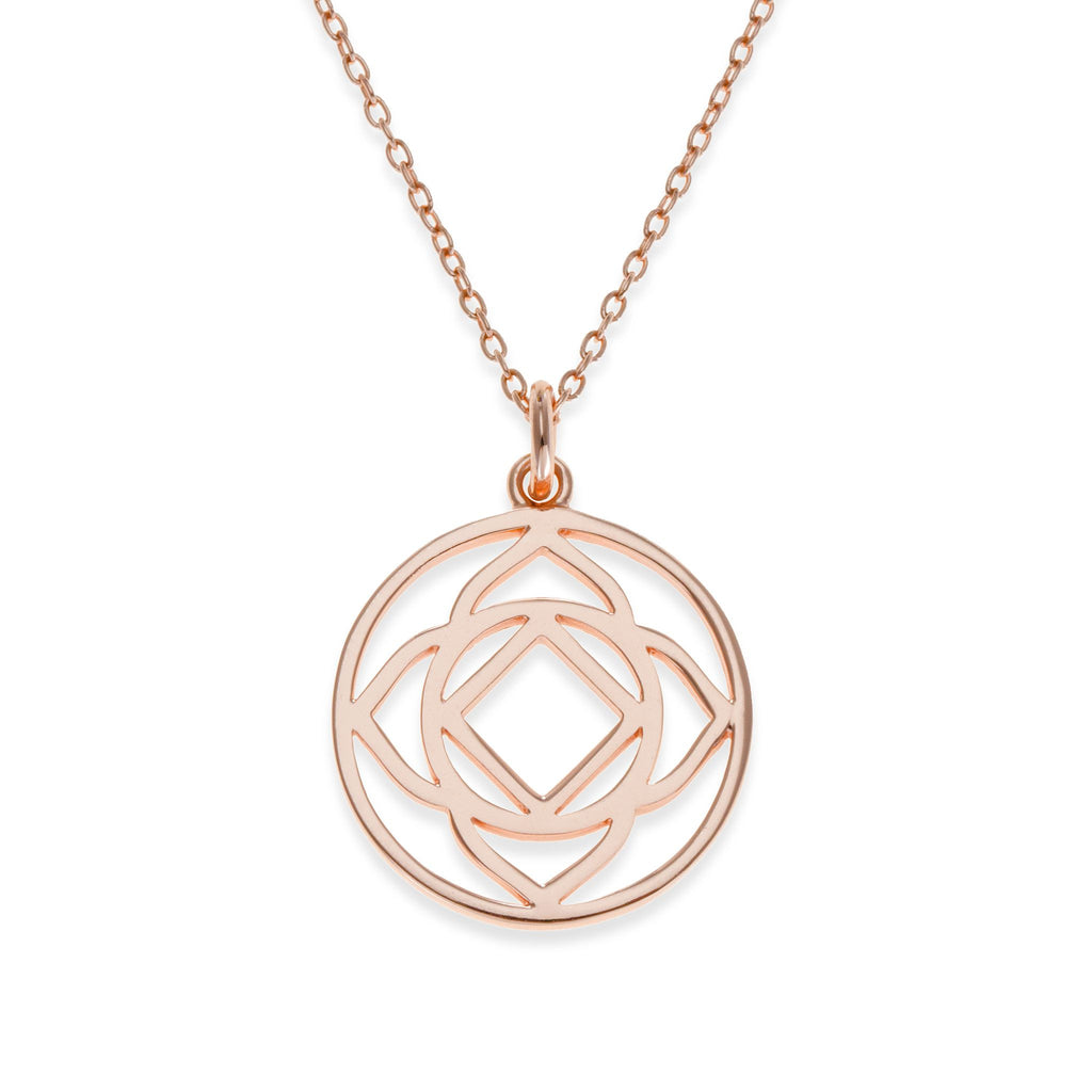 18K Rose Gold Plated Base Chakra Necklace | Kith & Kin | Spiritual Collection
