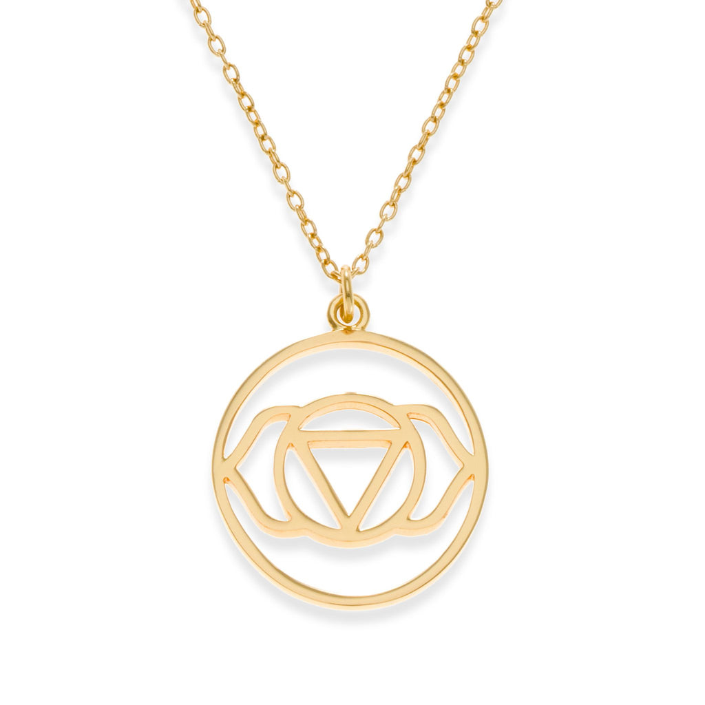 18K Gold Plated Brow Chakra Necklace | Kith & Kin | Spiritual Collection