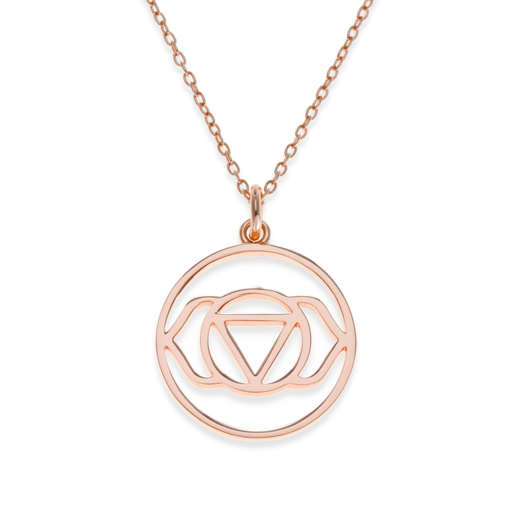 18K Rose Gold Plated Brow Chakra Necklace | Kith & Kin | Spiritual Collection