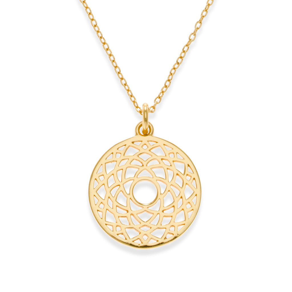 18K Gold Plated Crown Chakra Necklace | Kith & Kin | Spiritual Collection