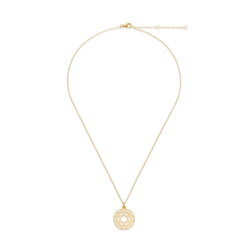 18K Gold Plated Heart Chakra Necklace | Kith & Kin | Spiritual Collection
