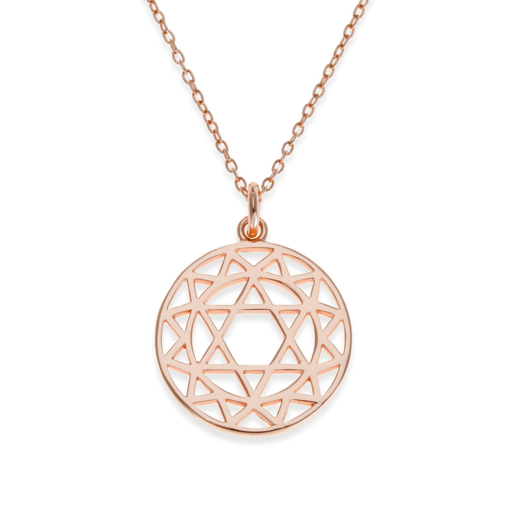 18K Rose Gold Plated Heart Chakra Necklace | Kith & Kin | Spiritual Collection