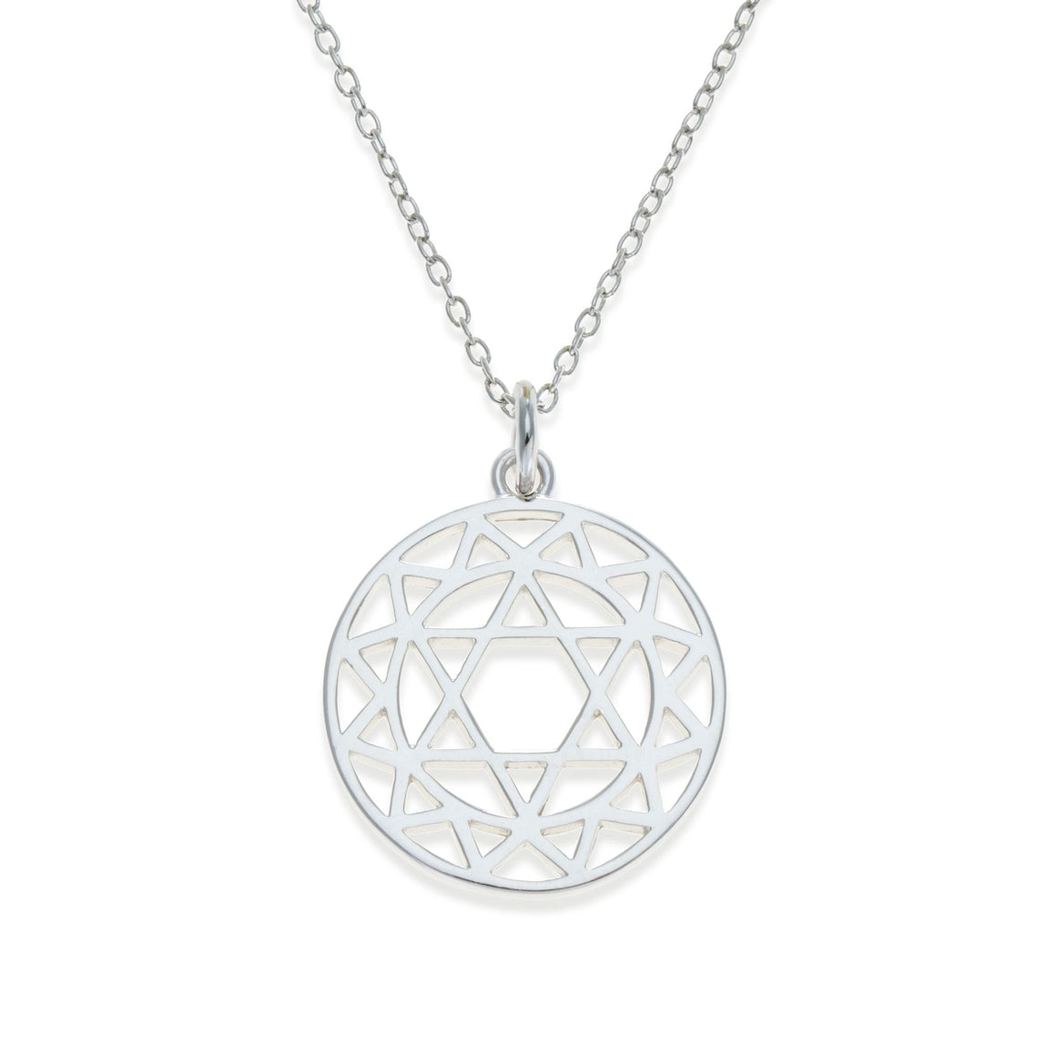 Sterling Silver Heart Chakra Necklace | Kith & Kin | Spiritual Collection