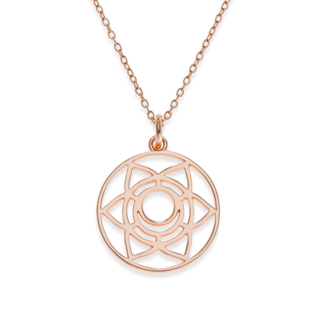 18K Rose Gold Plated Sacral Chakra Necklace | Kith & Kin | Spiritual Collection