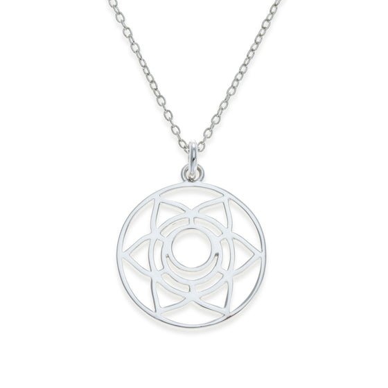Sterling Silver Sacral Chakra Necklace | Kith & Kin | Spiritual Collection