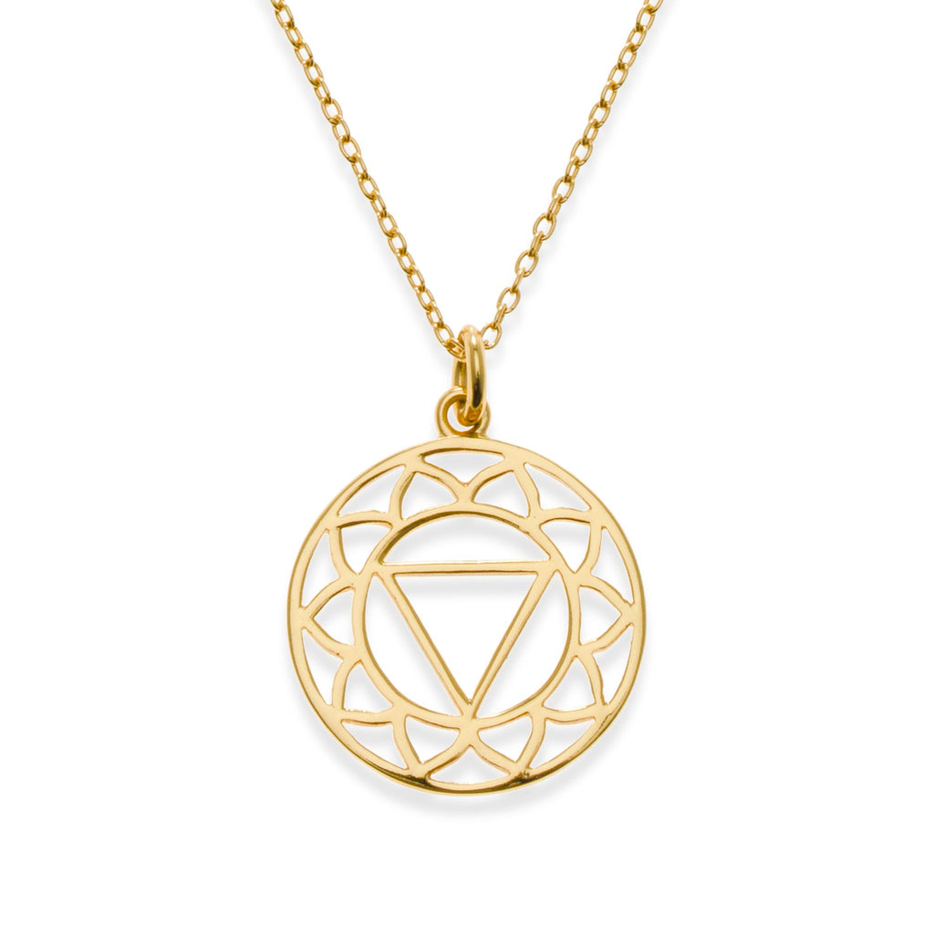 18K Gold Plated Solar Plexus Chakra Necklace | Kith & Kin | Spiritual Collection