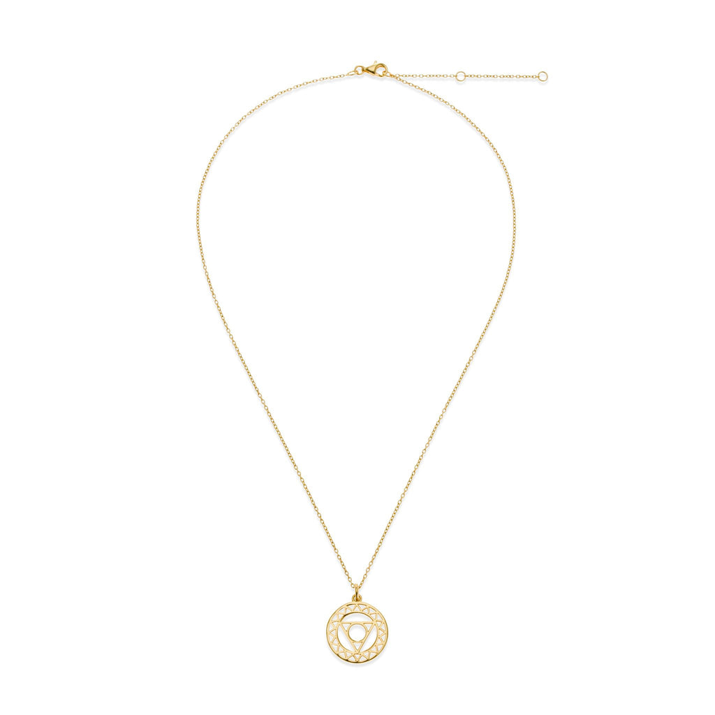 18K Gold Plated Throat Chakra Necklace | Kith & Kin | Spiritual Collection