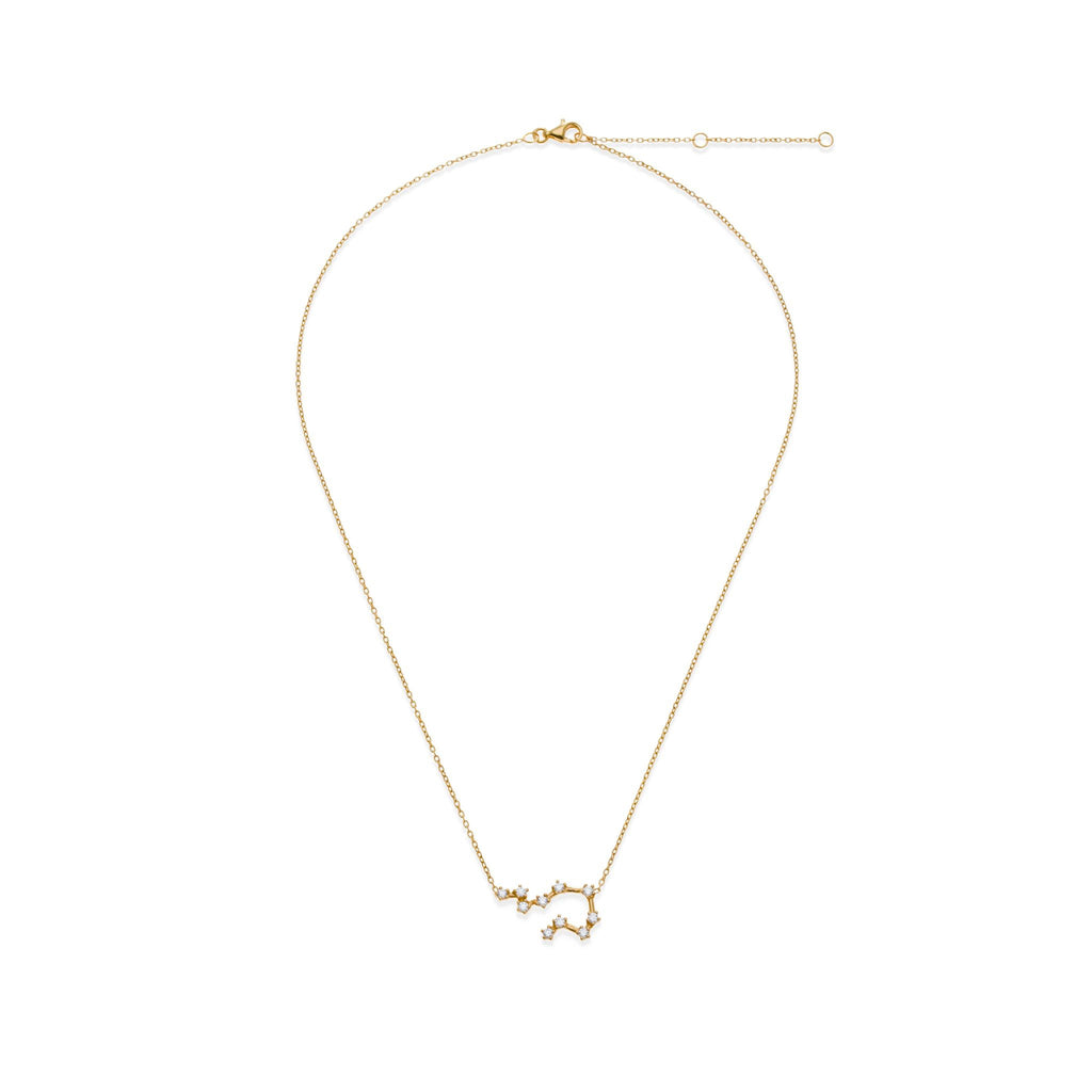 18K Gold Plated Aquarius Necklace | Kith & Kin | Wish Upon a Star Collection