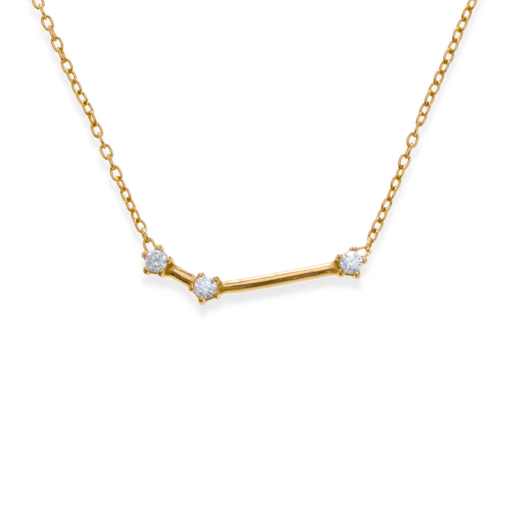 18K Gold Plated Aries Necklace | Kith & Kin | Wish Upon a Star Collection