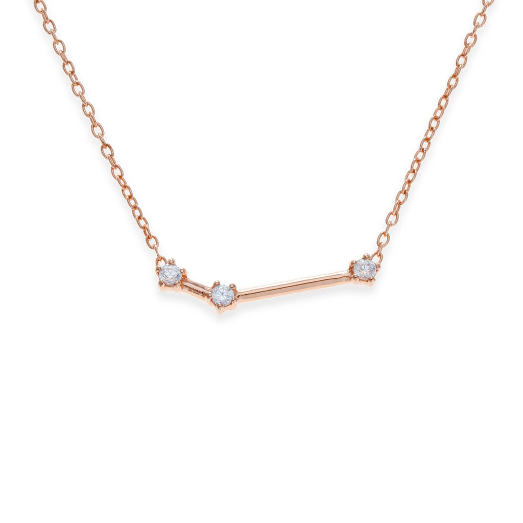 18K Rose Gold Plated Aries Necklace | Kith & Kin | Wish Upon a Star Collection