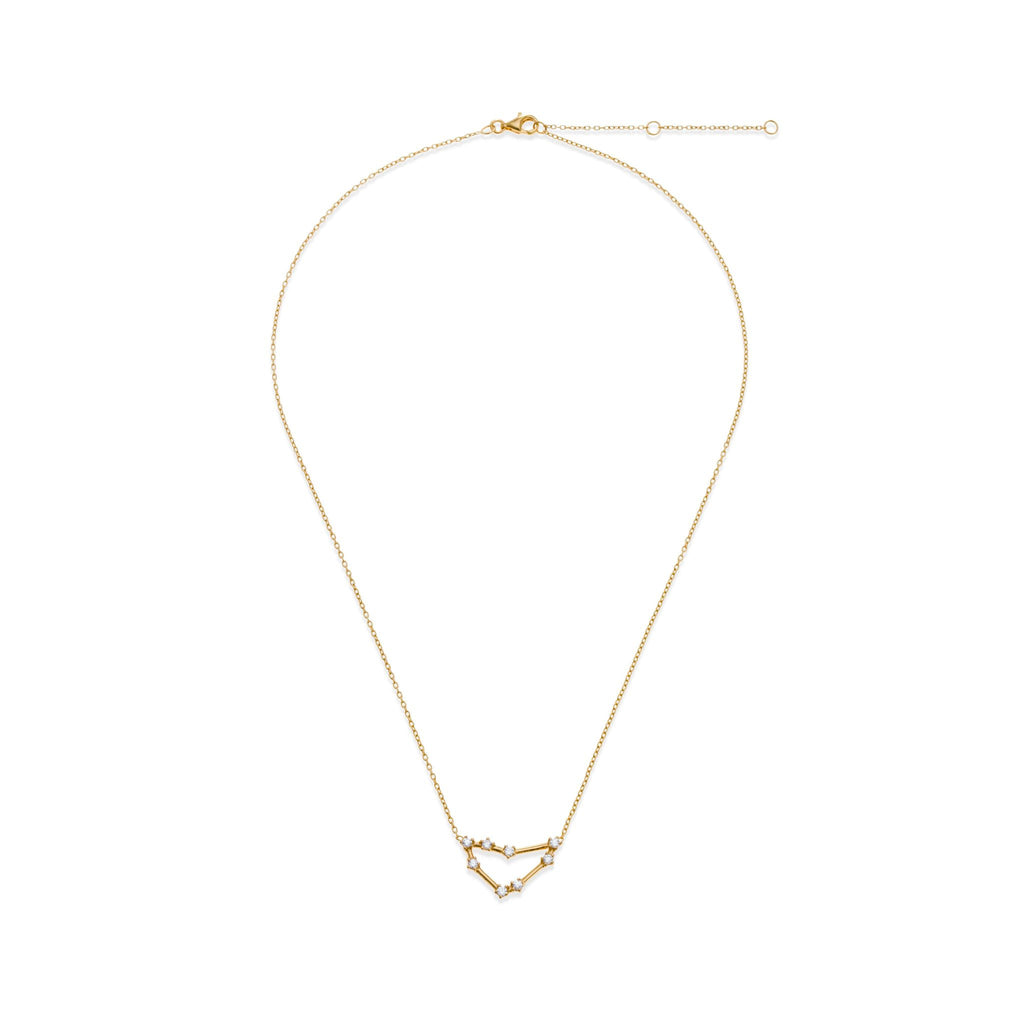 18K Gold Plated Capricorn Necklace | Kith & Kin | Wish Upon a Star Collection