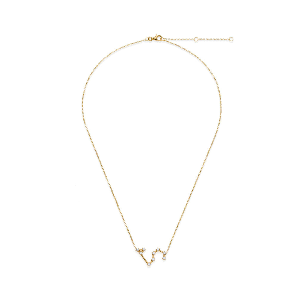 18K Gold Plated Leo Necklace | Kith & Kin | Wish Upon a Star Collection