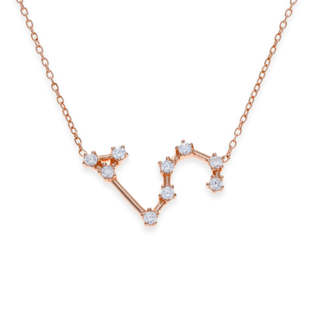 18K Rose Gold Plated Leo Necklace | Kith & Kin | Wish Upon a Star Collection