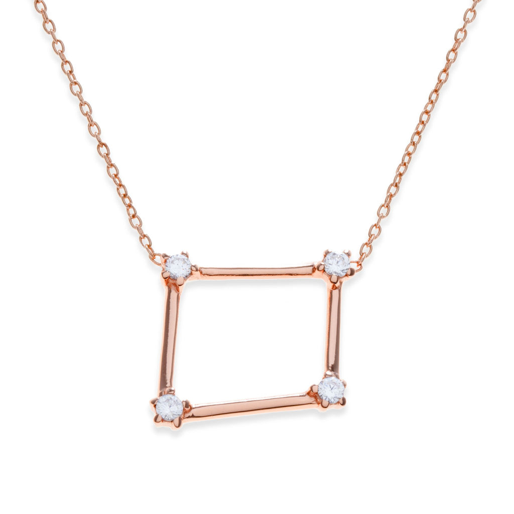 18K Rose Gold Plated Libra Necklace | Kith & Kin | Wish Upon a Star Collection