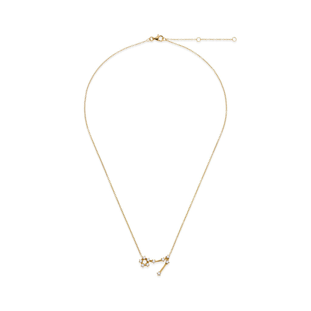 18K Gold Plated Pisces Necklace | Kith & Kin | Wish Upon a Star Collection
