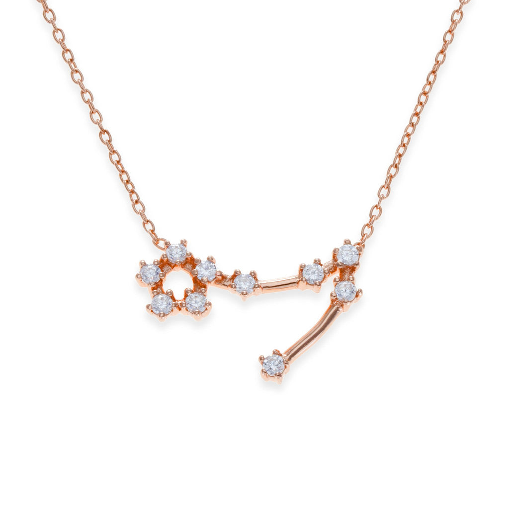 18K Rose Gold Plated Pisces Necklace | Kith & Kin | Wish Upon a Star Collection