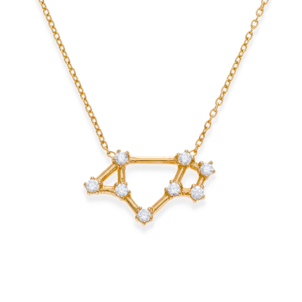 18K Gold Plated Saggitarius Necklace | Kith & Kin | Wish Upon a Star Collection