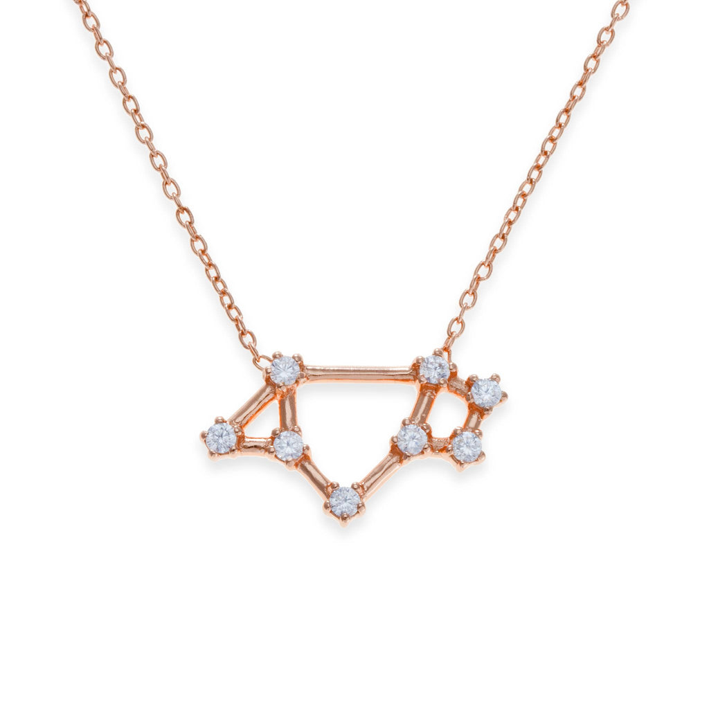 18K Rose Gold Plated Saggitarius Necklace | Kith & Kin | Wish Upon a Star Collection