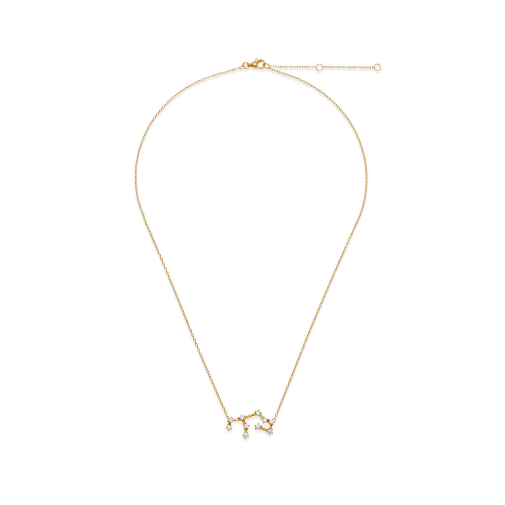18K Gold Plated Virgo Necklace | Kith & Kin | Wish Upon a Star Collection
