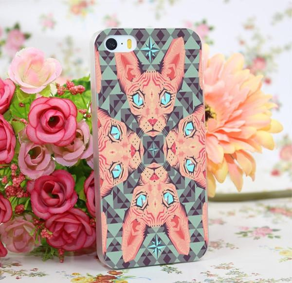 Pink/Blue Sphynx Case for iPhone and Samsung S/ Note