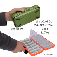 """DOUBLE-DECK"" MULTIFUNCTIONAL 30 SLOTS WATERPROOF FISHING LURE/ TACKLE BOX - groovy-grabz"