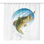 """Bass Art"" Shower Curtain - groovy-grabz"