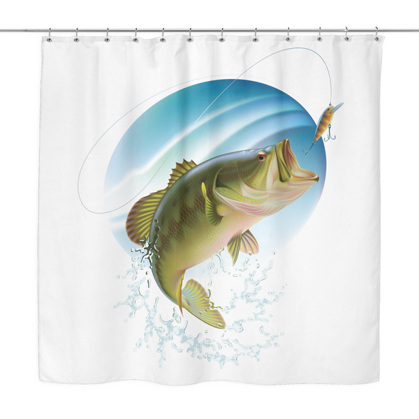 """Bass Art"" Shower Curtain"