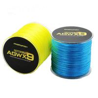 9X Weaves Super Strong Braided Fishing PE Line, 8-36kg (15-80lb), 500m (546 yards) SUPER SALE - groovy-grabz