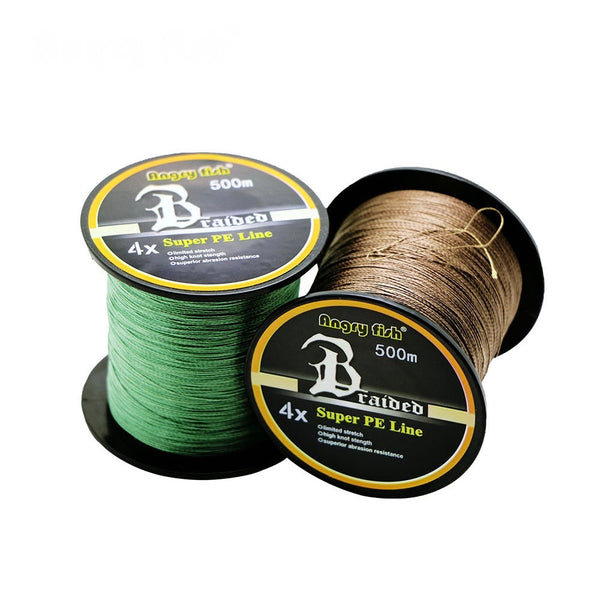 4X WEAVES SUPER STRONG BRAIDED FISHING LINE 4.5-31.7kg (10-70lb) 500m (546 yards) - groovy-grabz