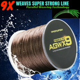 9X Weaves Super Strong Braided Fishing PE Line, 8-36kg (15-80lb), 500m (546 yards) - groovy-grabz
