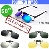 POLARIZED UV400  CLIP-ON FISHING SUNGLASSES