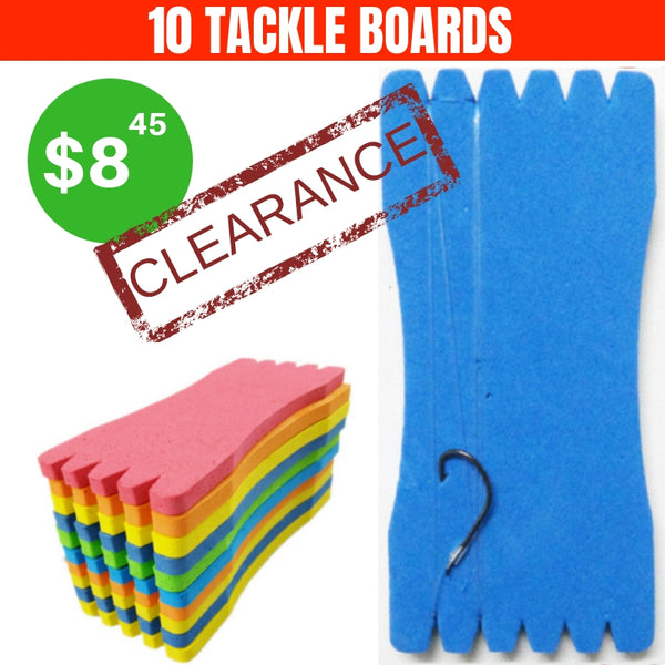 FISHING TACKLE ORGANIZING BOARDS SET OF 10