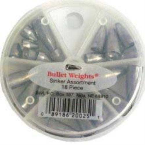 Bullet Weight Assortment Worm Sinker 18ct