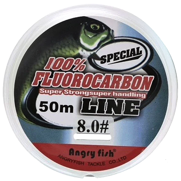 100%  Fluorocarbon Super Strong Transparent Fishing Line  50M - groovy-grabz