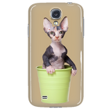 Sphynx Kitten In A Bucket Case for iPhone and Samsung Galaxy S