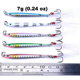 """FATAL TORPEDOES"" ALL-METAL JIG PENCIL FISHING LURES, SET OF 5"