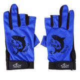 FISHING GLOVES WITH 3 LOW-CUT FINGERS AND ANTI-SLIP PALMS